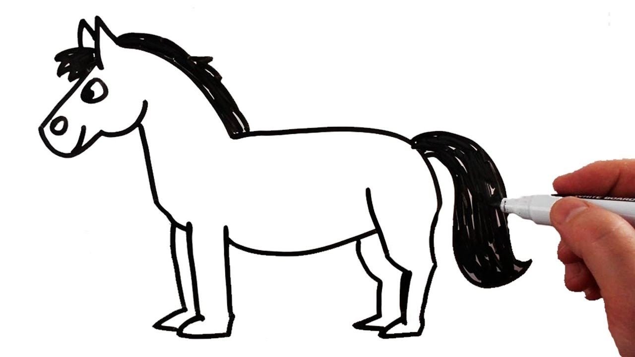 1280x720 How To Draw A Horse Step