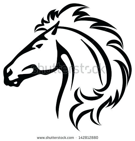 450x467 mustang horse drawing horse drawing mustang horse drawing pages