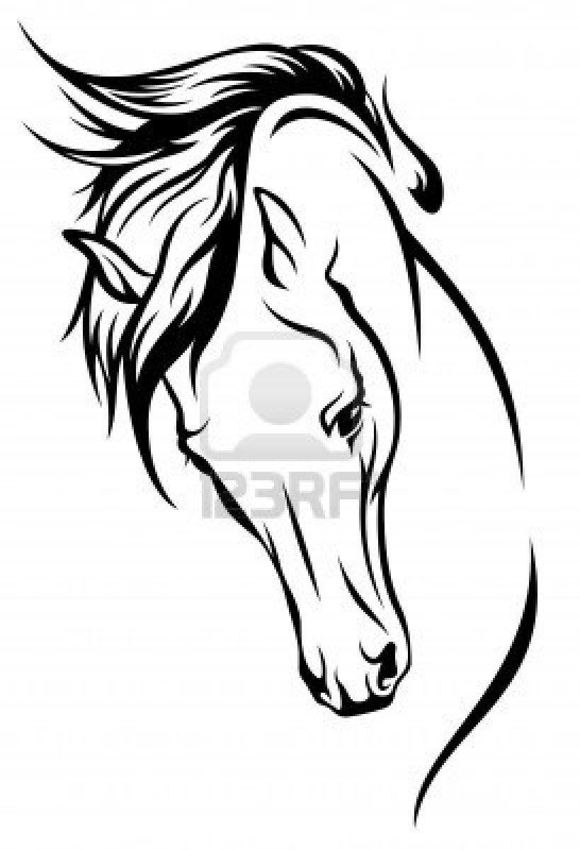 819x1200 Stock Vector Select Tattoos, Drawings, Horse Drawings