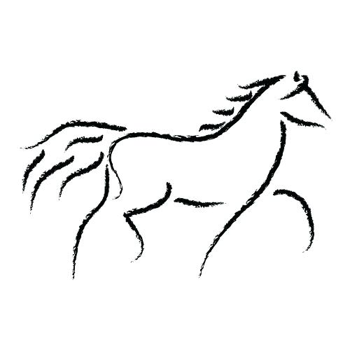 500x500 How To Draw A Simple Horse Step