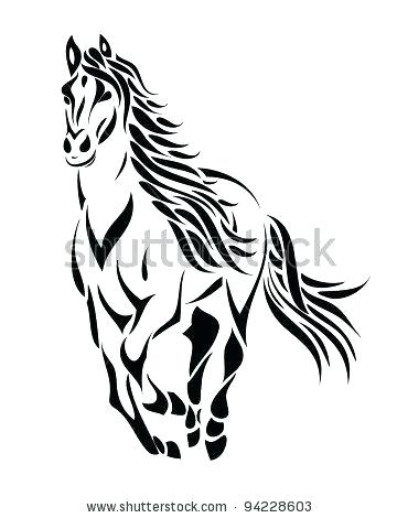 360x470 how to draw a mustang horse ink horse easy to draw mustang horse