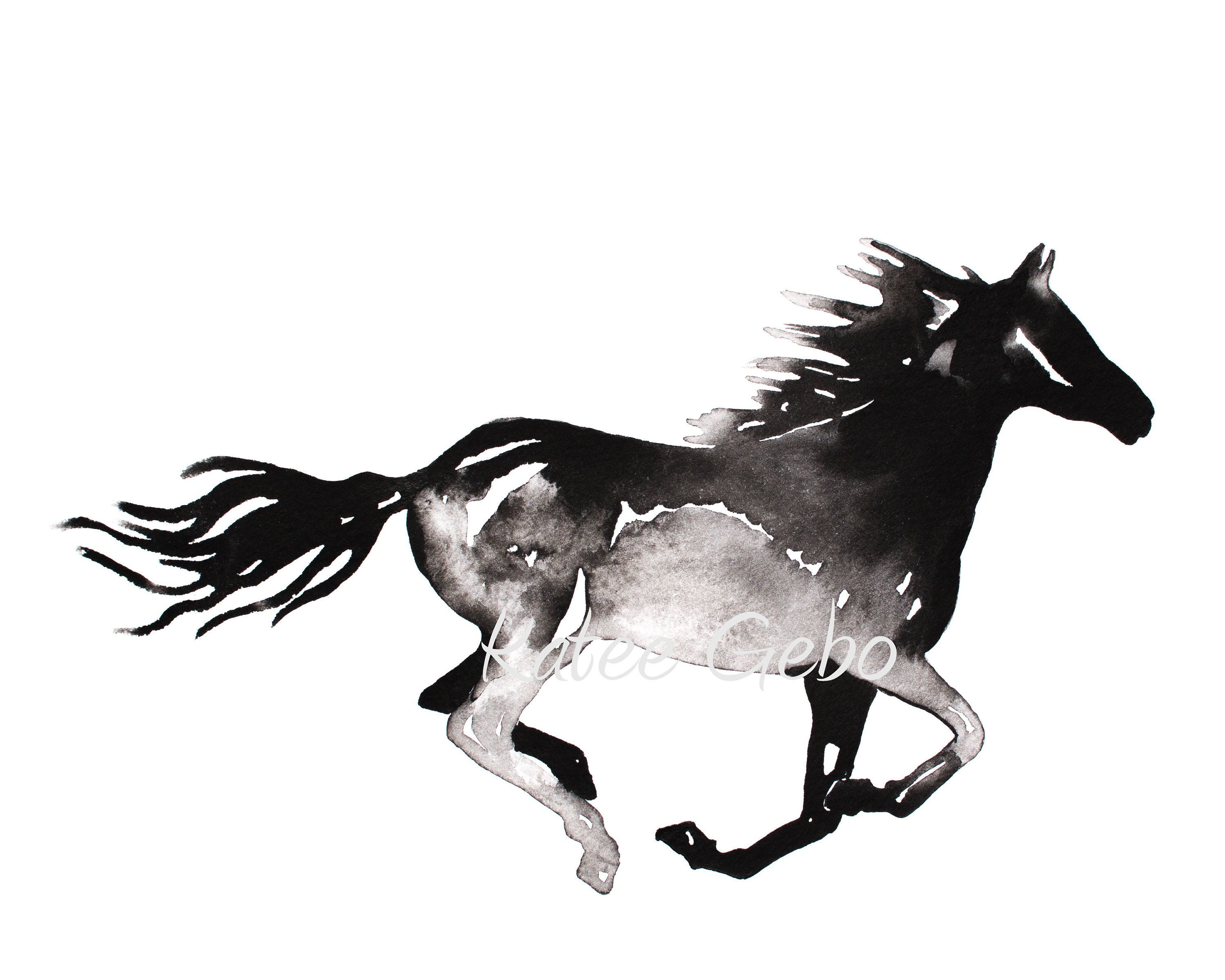 Horse Galloping Drawing | Free download on ClipArtMag