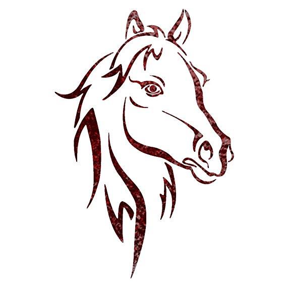 569x569 j boutique stencils horse head animal wall stencils
