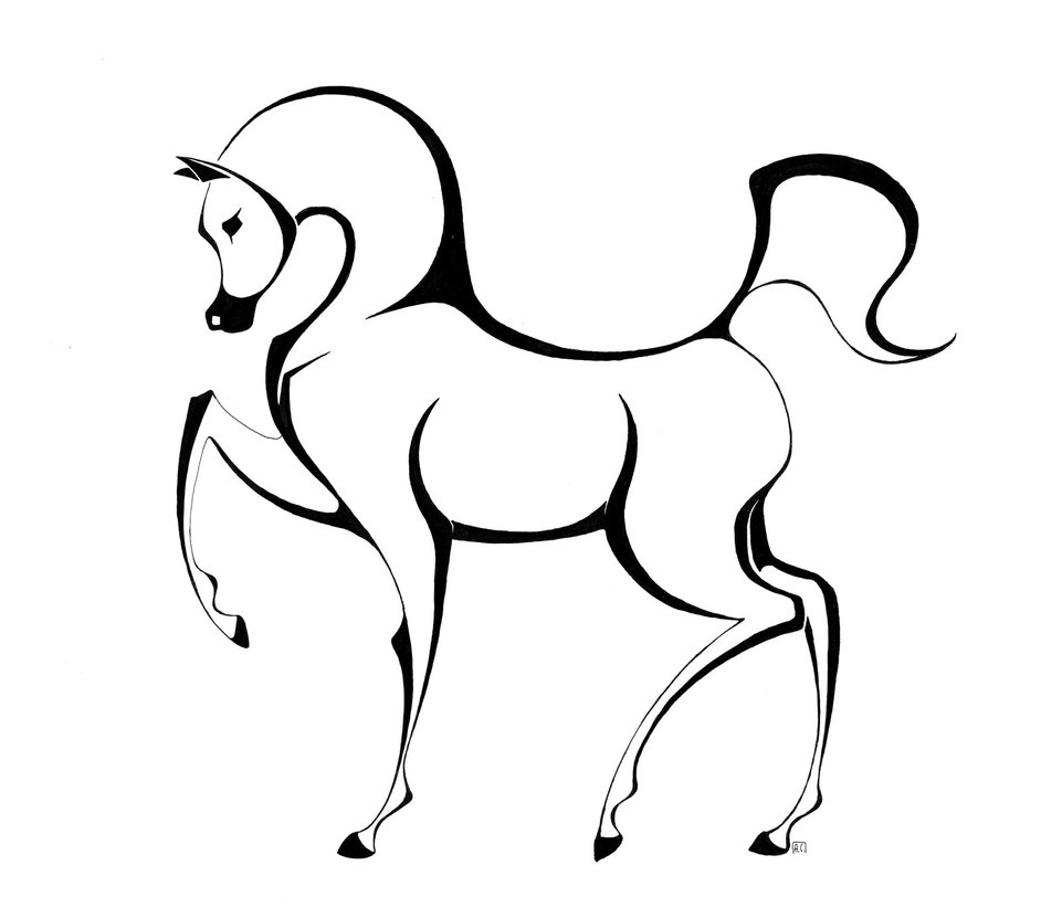 Horse Head Drawing Tutorial