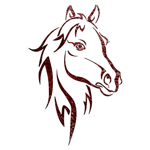 500x500 j boutique stencils horse head animal wall stencils