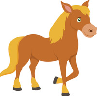 200x199 Free Horse Clipart