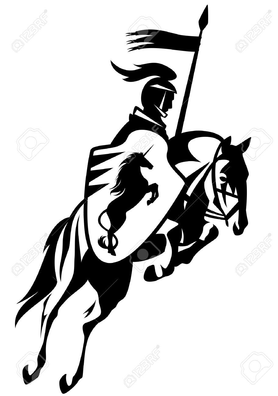 912x1300 Knight Clipart Horse Line Drawing