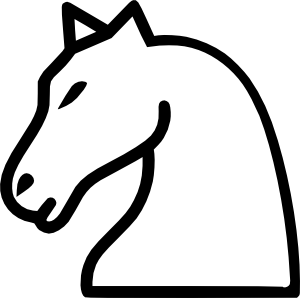 300x298 Knight Clipart Horse Line Drawing