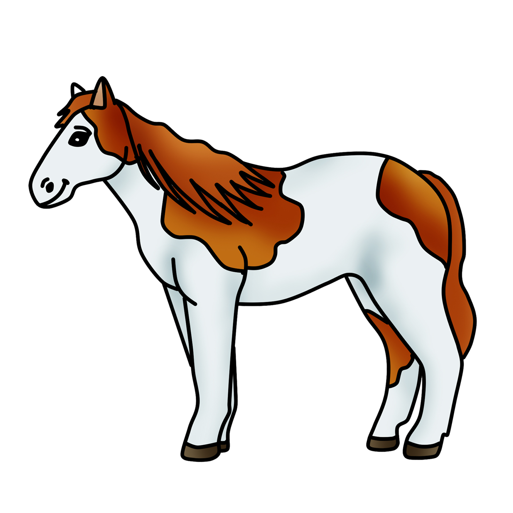 1800x1800 Spotted Horse Clipart Pony Graphic