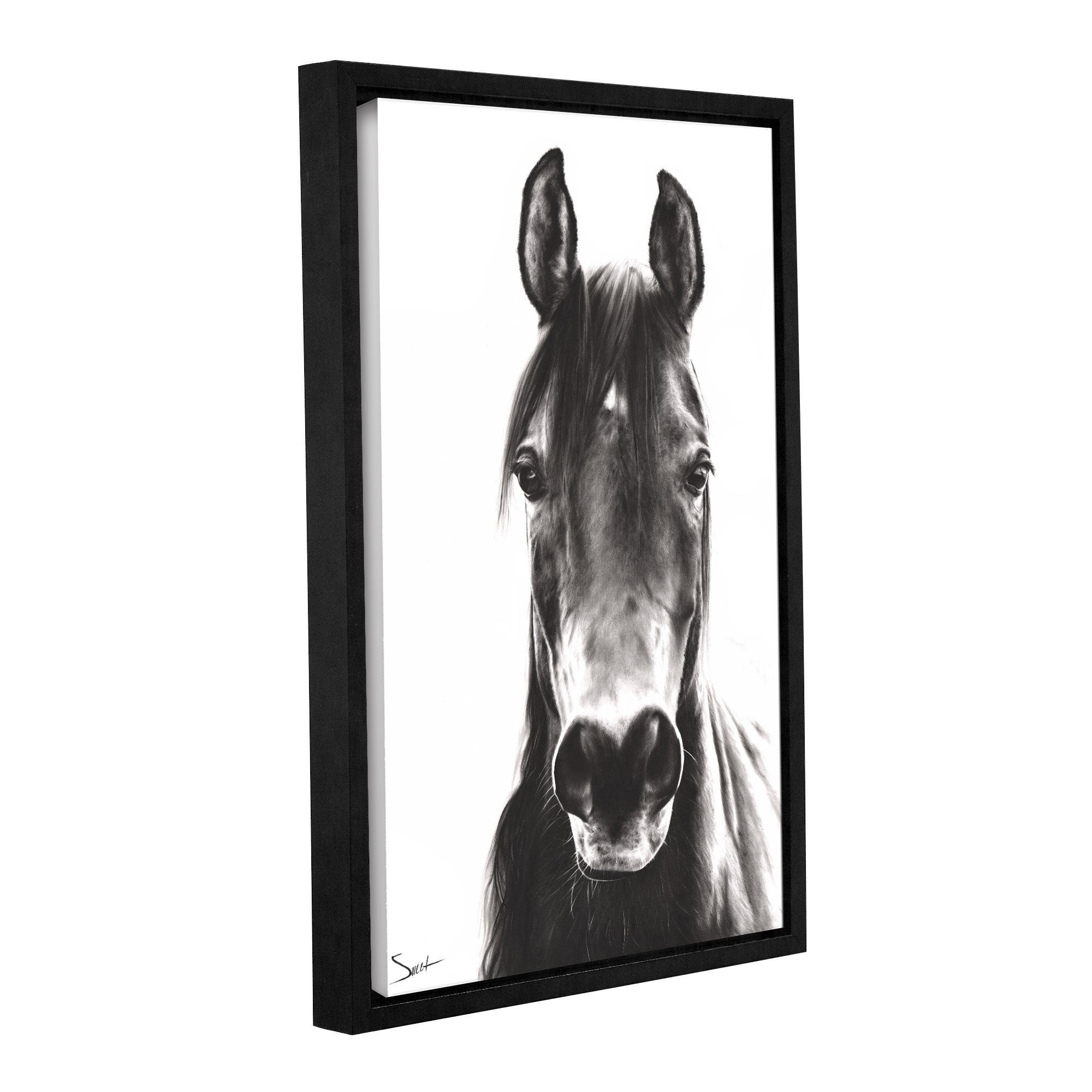 2000x2000 shop eric sweet 'horse portrait' gallery wrapped floater framed
