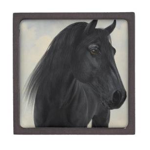 307x307 black horse equine gift boxes keepsake boxes zazzle