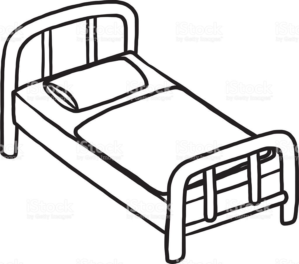 1024x905 Empty Hospital Bed Clipart