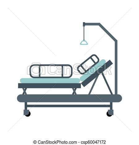 450x470 Hospital Bed Isolated Medical Bunk Vector Illustration