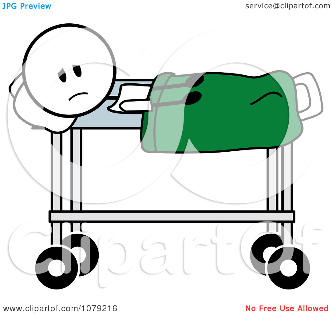 1080x1024 Sick Person In Hospital Bed Clipart