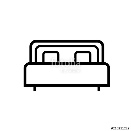 500x500 Bed Icon Simple Design Vector Drawing Stock Image And Royalty