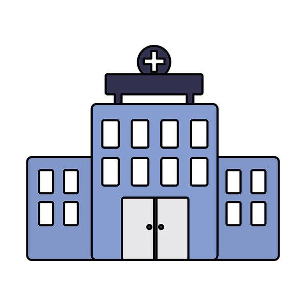 600x600 Hospital Building Architecture Facade Cross Art Print