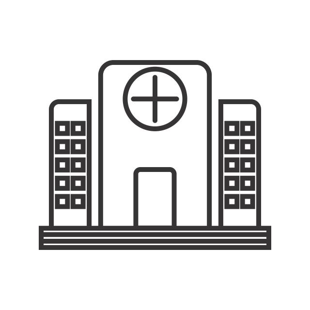 640x640 Hospital Line Black Icon, Hospital, Medical, Building Png