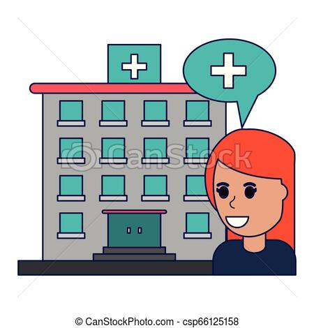 450x470 Patient In Hospital Building Blue Lines Patient In Hospital