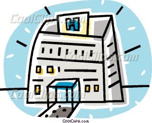 300x244 Hospital Buildings Vector Clip Art