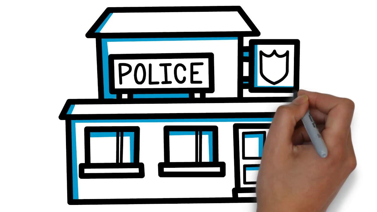 1280x720 How To Draw Police Station For Kids ! Youtube Videos For Kids