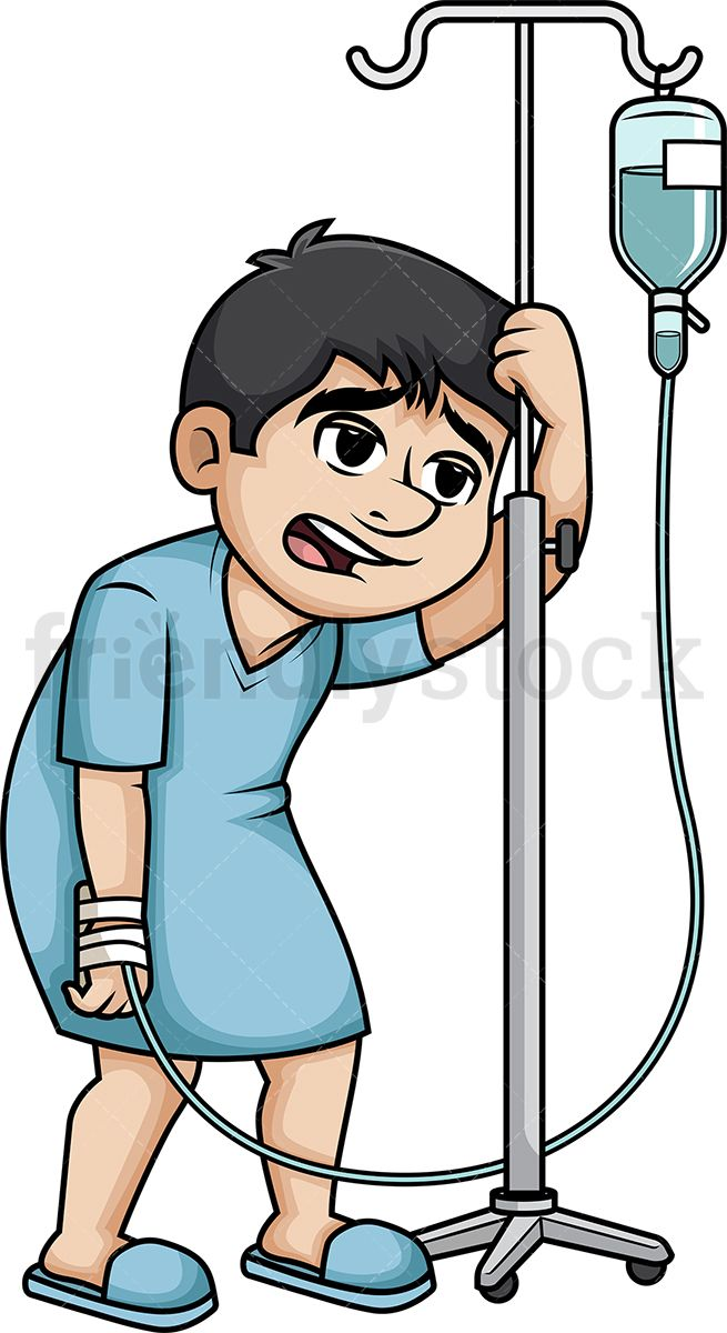 655x1200 Male Patient Walking With Iv Stand Characters Motion Clip Art