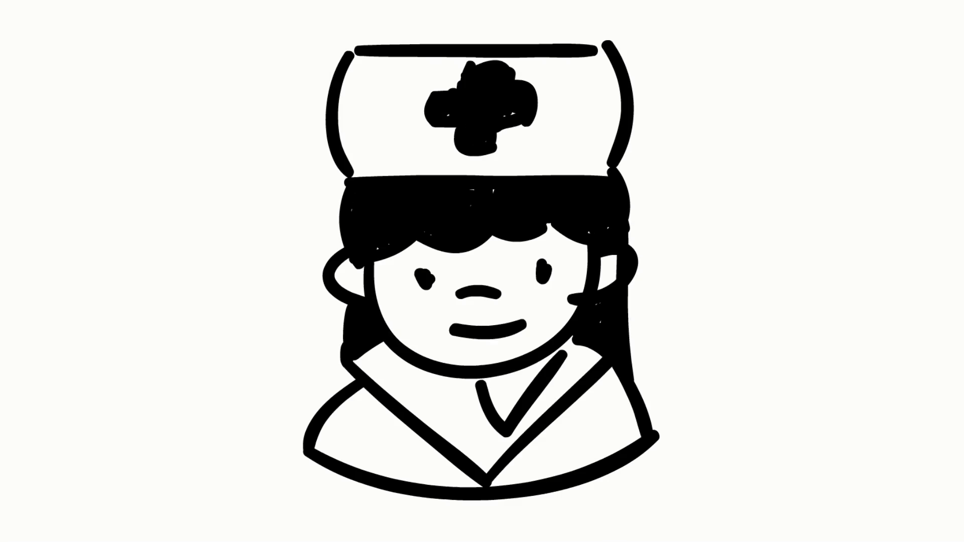 1920x1080 Nurse Medical Hospital Sketch Illustration Hand Drawn Animation
