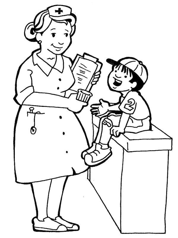 600x800 Coloring Pages For Kids Hospital Doctors Nurses Nurse Sabar