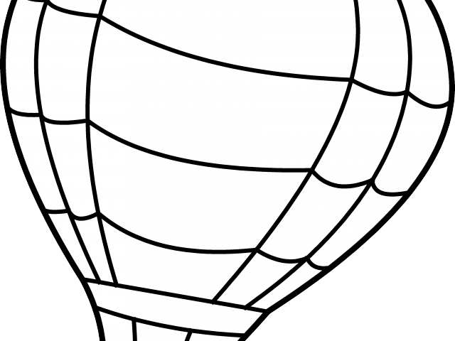 640x480 Hot Air Balloon Clipart Line Drawing