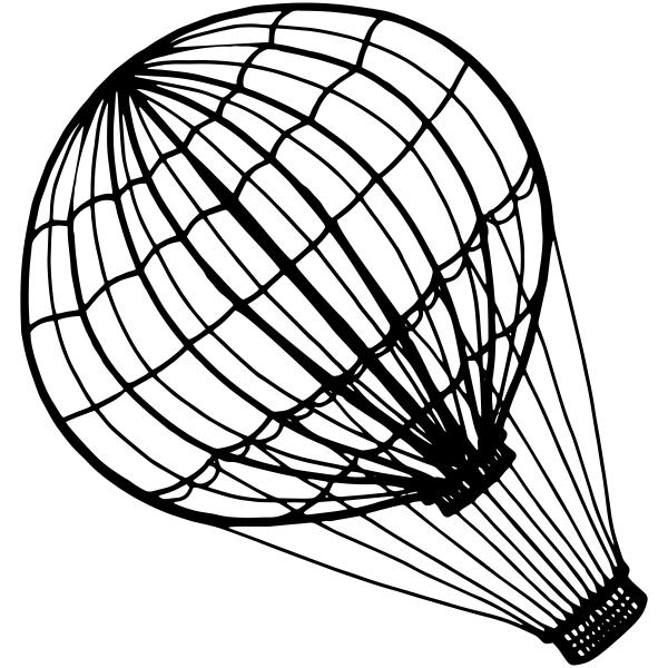 600x600 Hot Air Balloon Craft Stamp Custom