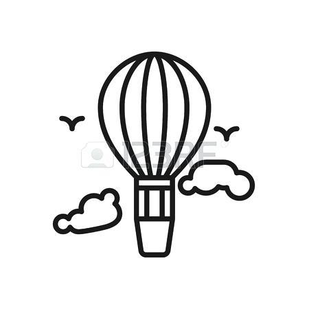 450x450 Hot Air Balloon Outline Balloons Hot Air Balloon Outline Clipart