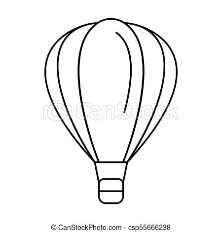 450x470 hot air balloon outline hot air icon outline style hot air balloon