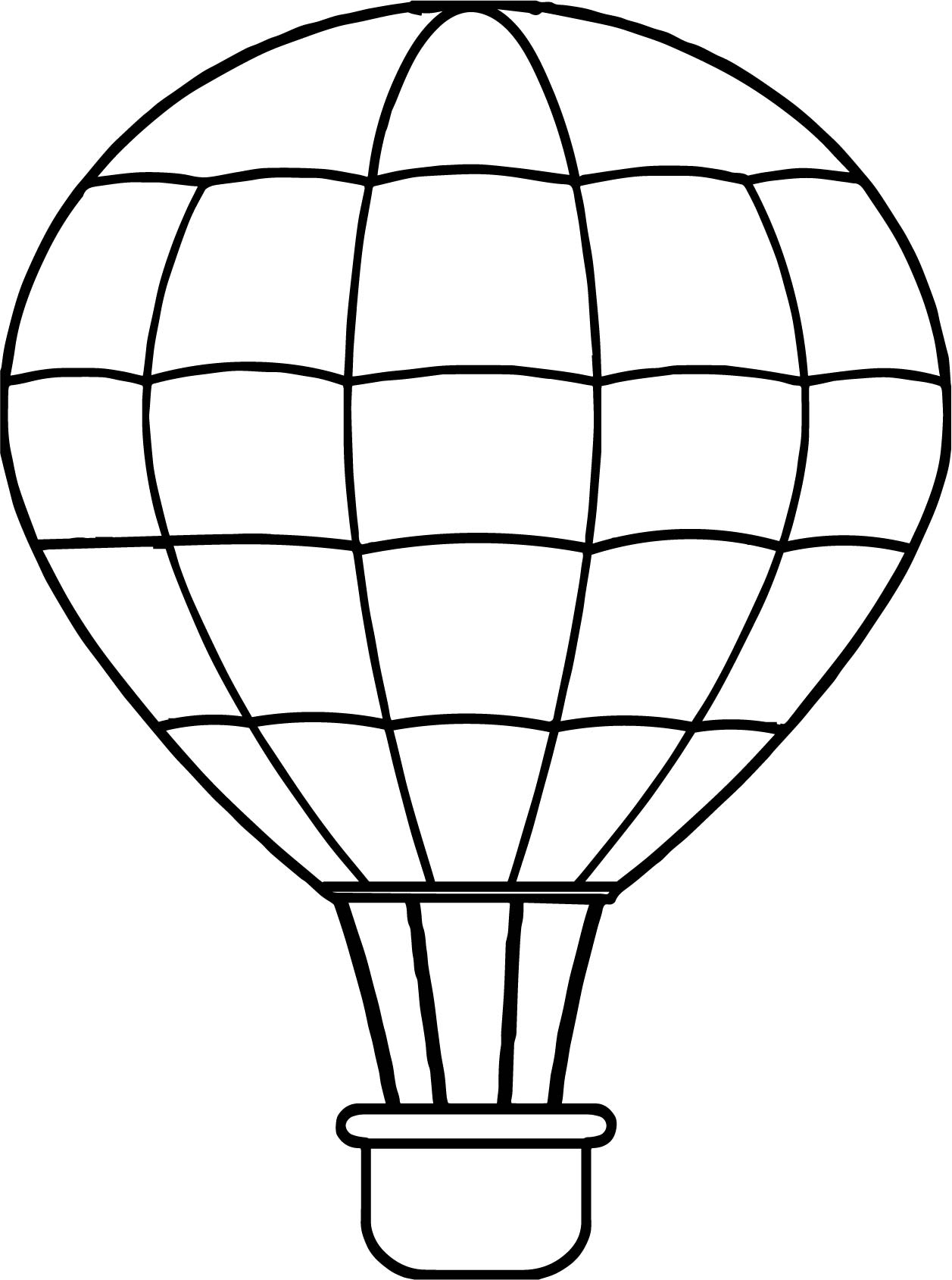 1257x1689 Air Balloon Line Coloring