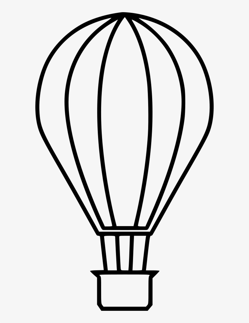 820x1060 Hot Air Balloon Outline Png Clipart Download
