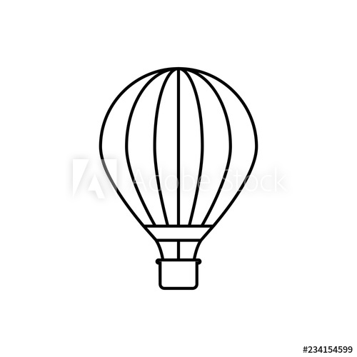 500x500 Hot Air Balloon Outline Icon Linear Style Sign For Mobile Concept