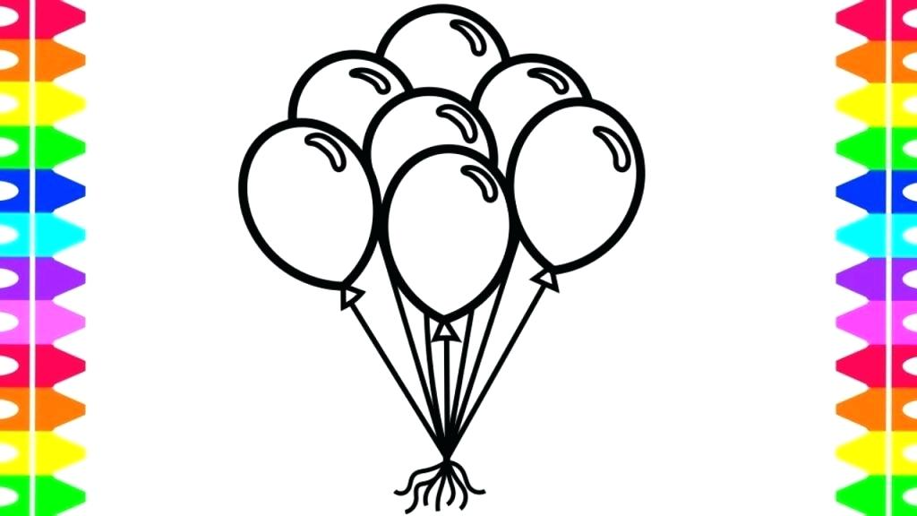 1024x576 How To Draw Balloons Step