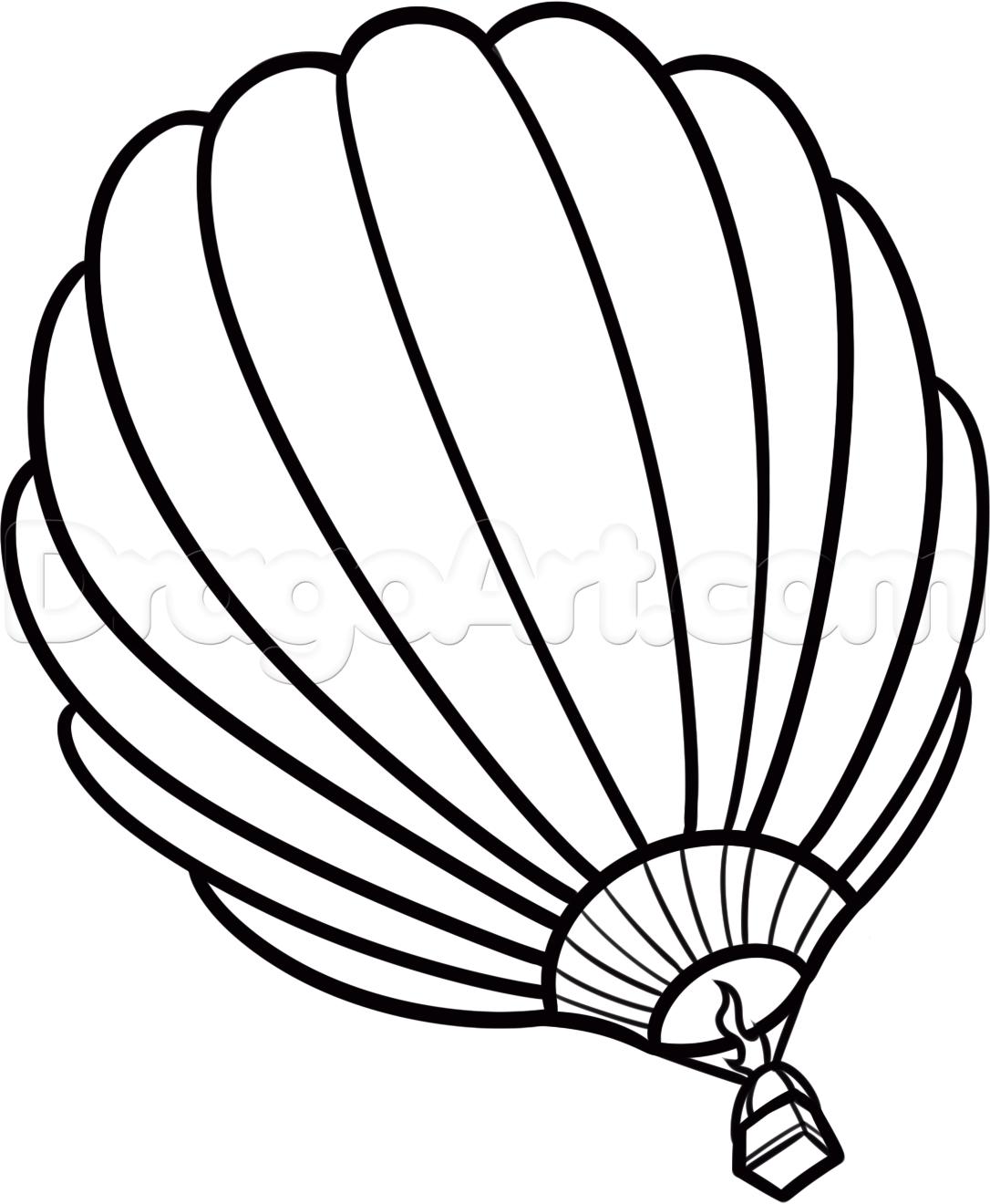 1086x1320 How To Draw A Hot Air Balloon, Step