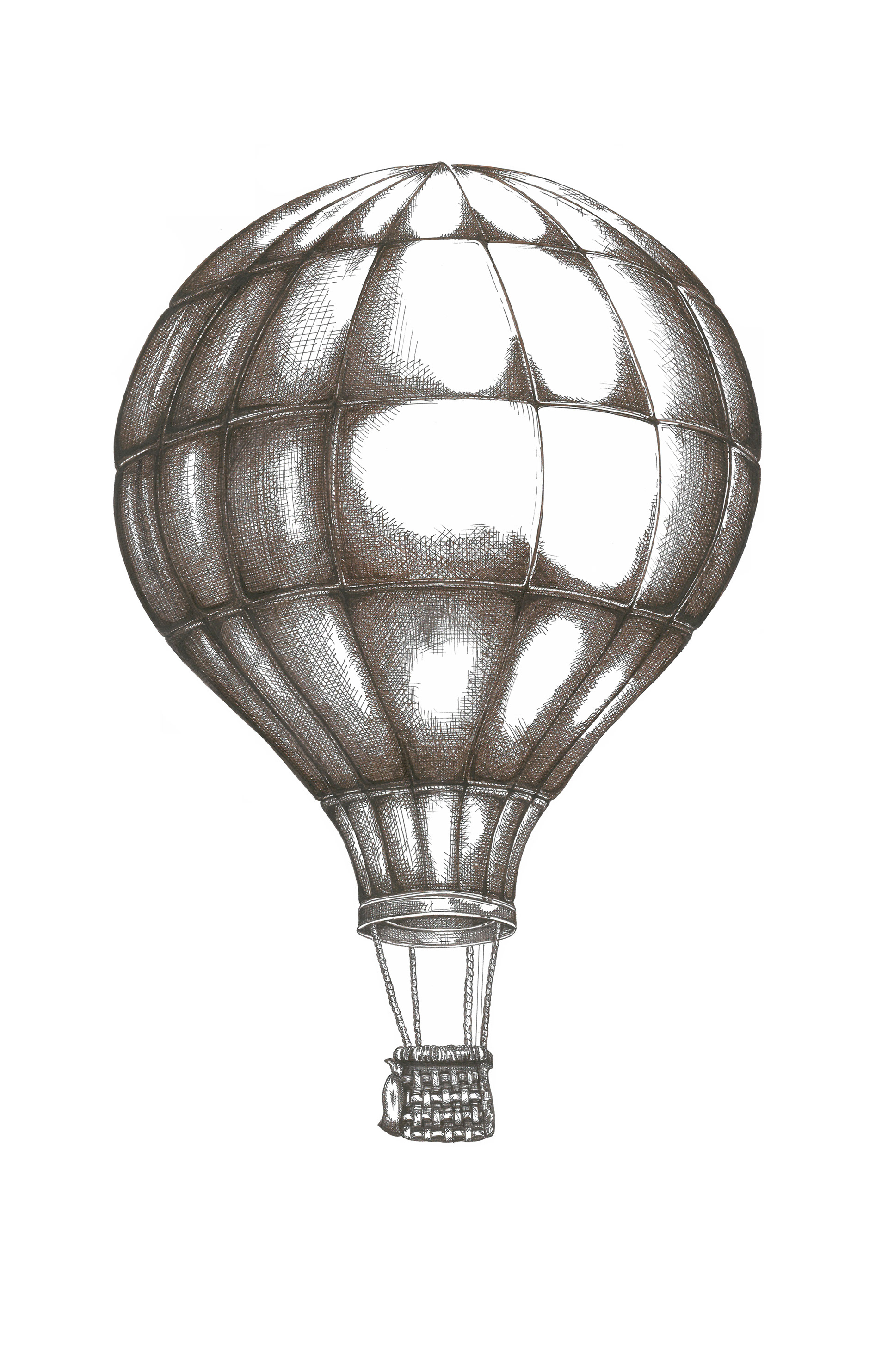 1920x2967 Huge Collection Of 'hot Air Balloon Drawing' Download More Than