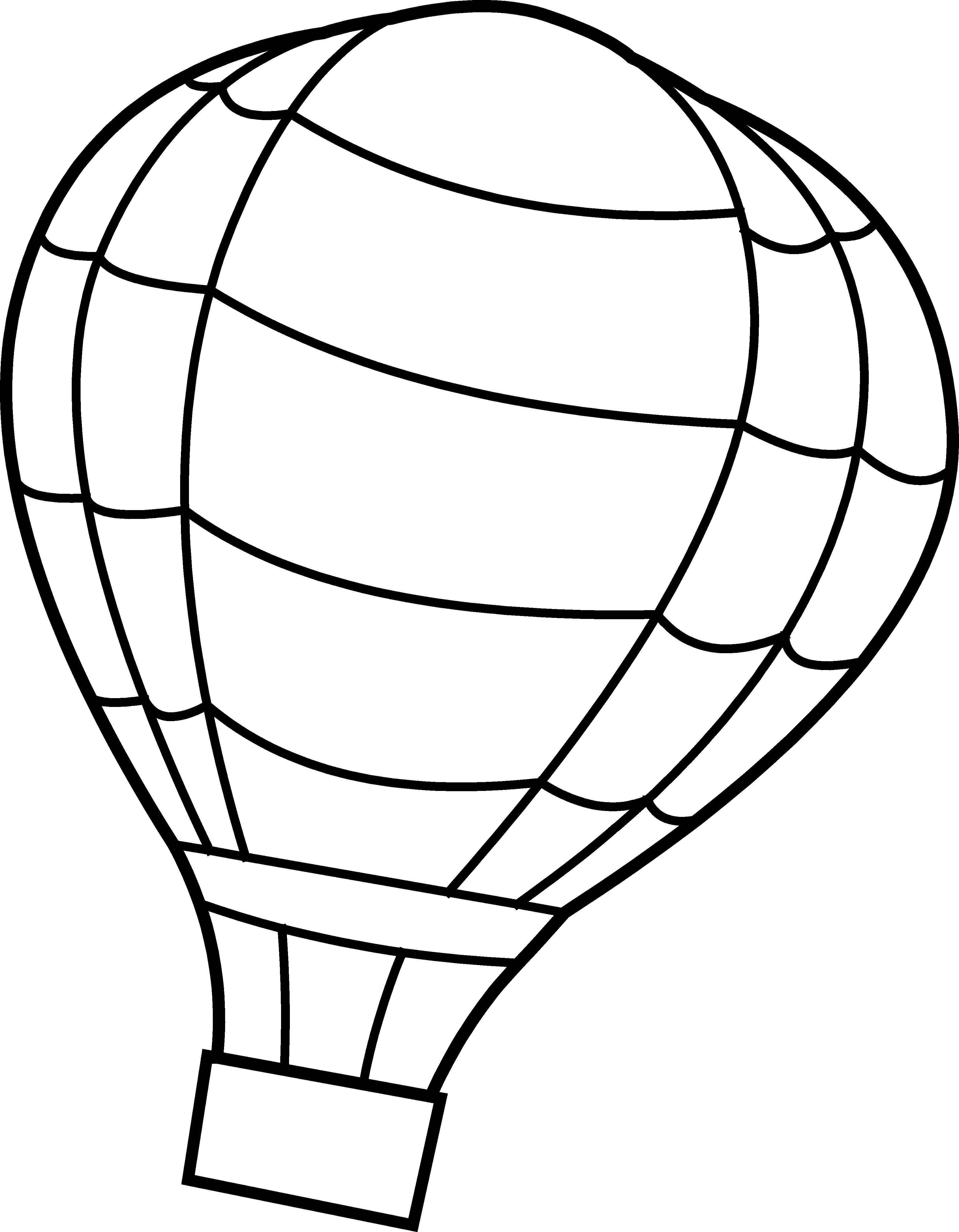 3583x4606 Baby Balloon Template, Hot Air Balloon