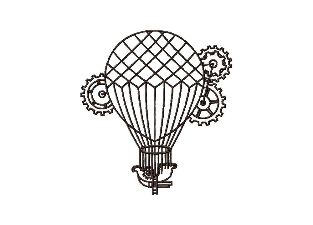 1000x720 Hot Air Balloon Outline