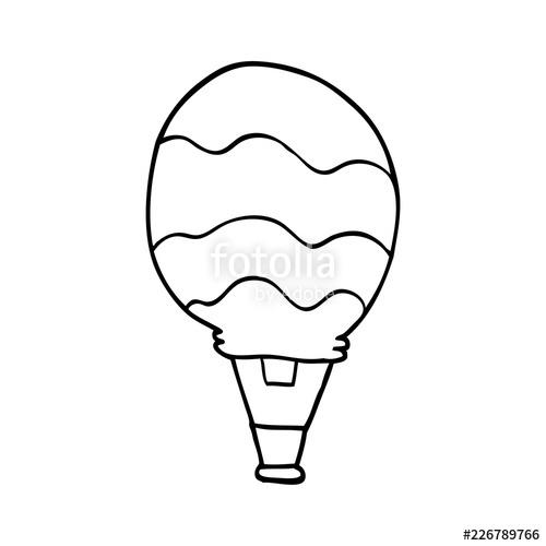 500x500 Line Drawing Cartoon Hot Air Balloon Stock Image And Royalty Free