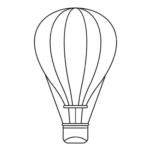 600x600 Balloon Outline Hot Air Balloon Outline Clipart