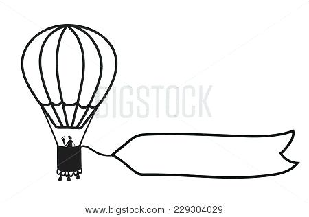 450x316 Balloon Outline Hot Air Balloon Outline Drawing