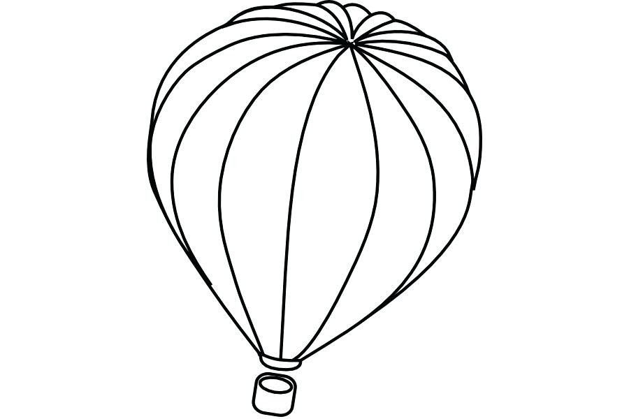 900x600 Balloon Outline Hot Air Balloon White Clip Art Balloon Outline Hot
