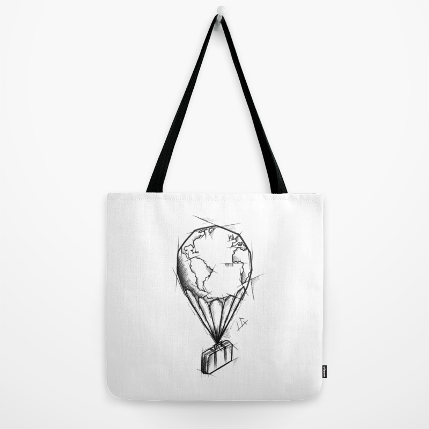 1500x1500 Balloon Handmade Drawing, Made In Pencil, Charcoal And Ink, Tattoo