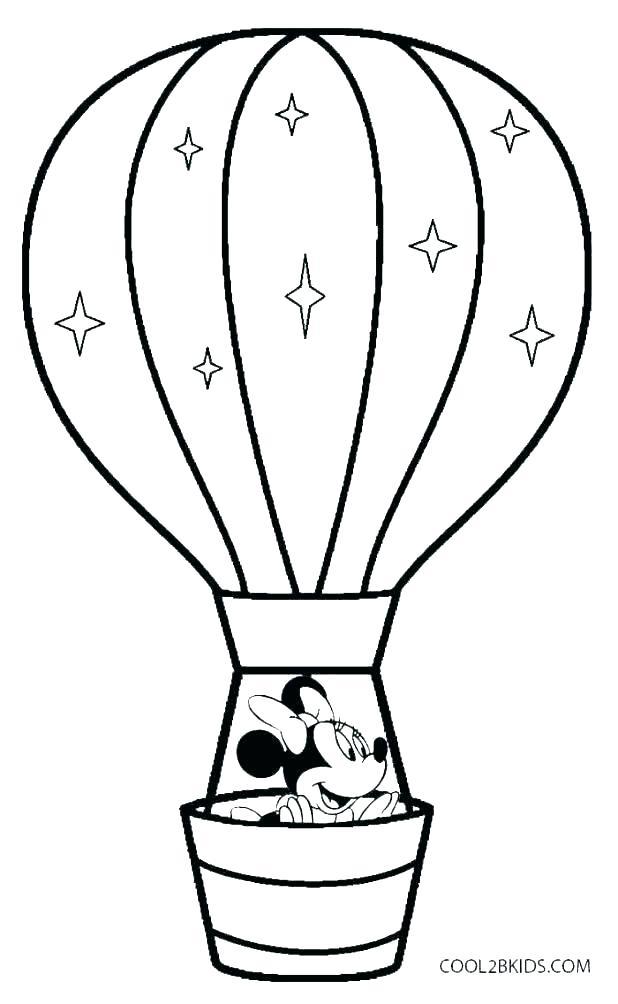 618x1004 Birthday Balloons Coloring Pages Printable Hot Air Balloon