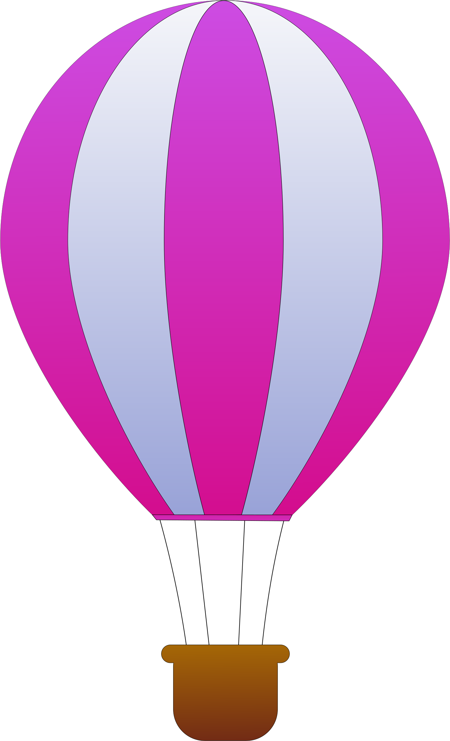 1458x2400 Hot Air Balloon Outline Transparent Png Clipart Free Download