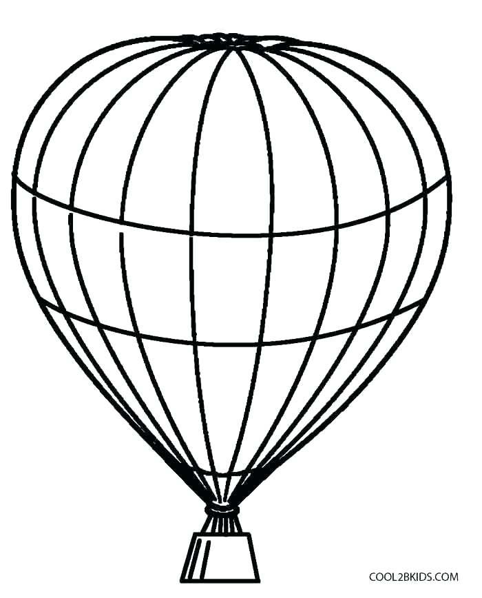 700x868 Air Balloon Coloring