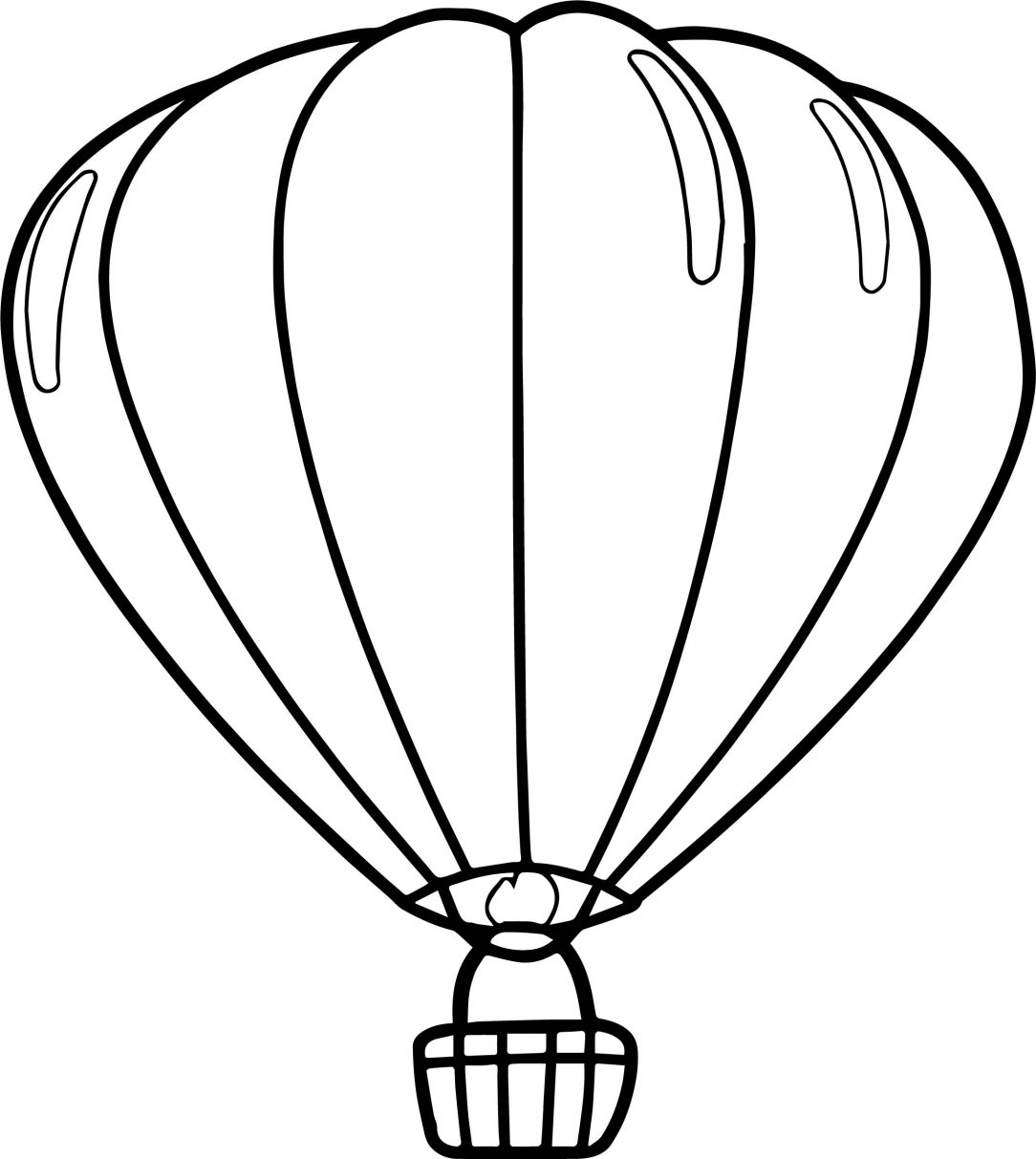 1084x1213 Balloon Coloring Pages Printable Tags Battery Drawing Balloon