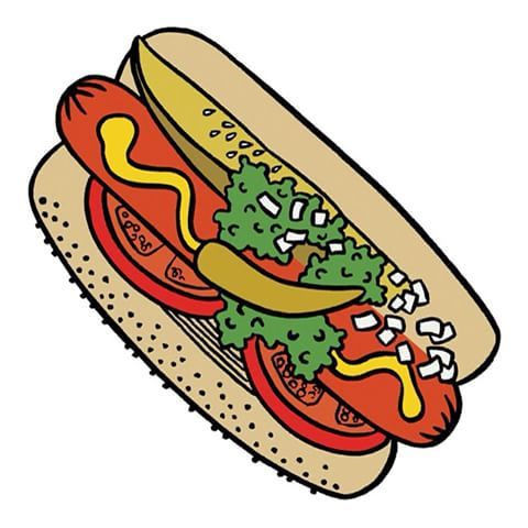 480x480 image result for chicago hot dog drawing tats hot dog drawing