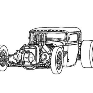 Hot Rod Line Drawing Free Download Best Hot Rod Line